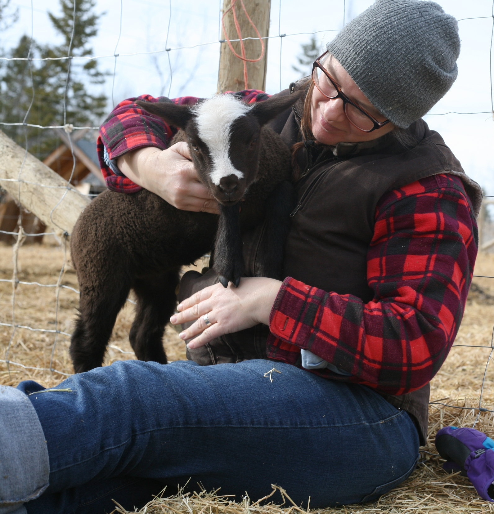 Anna with Odie the ewe lamb