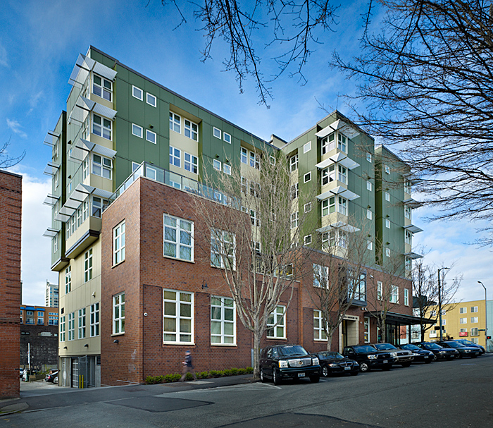 - Client: Catholic Housing ServicesLocation: Seattle, WashingtonCompletion: 2010Project Size: (90) Units, Common + Office + Retail 38,369 SF