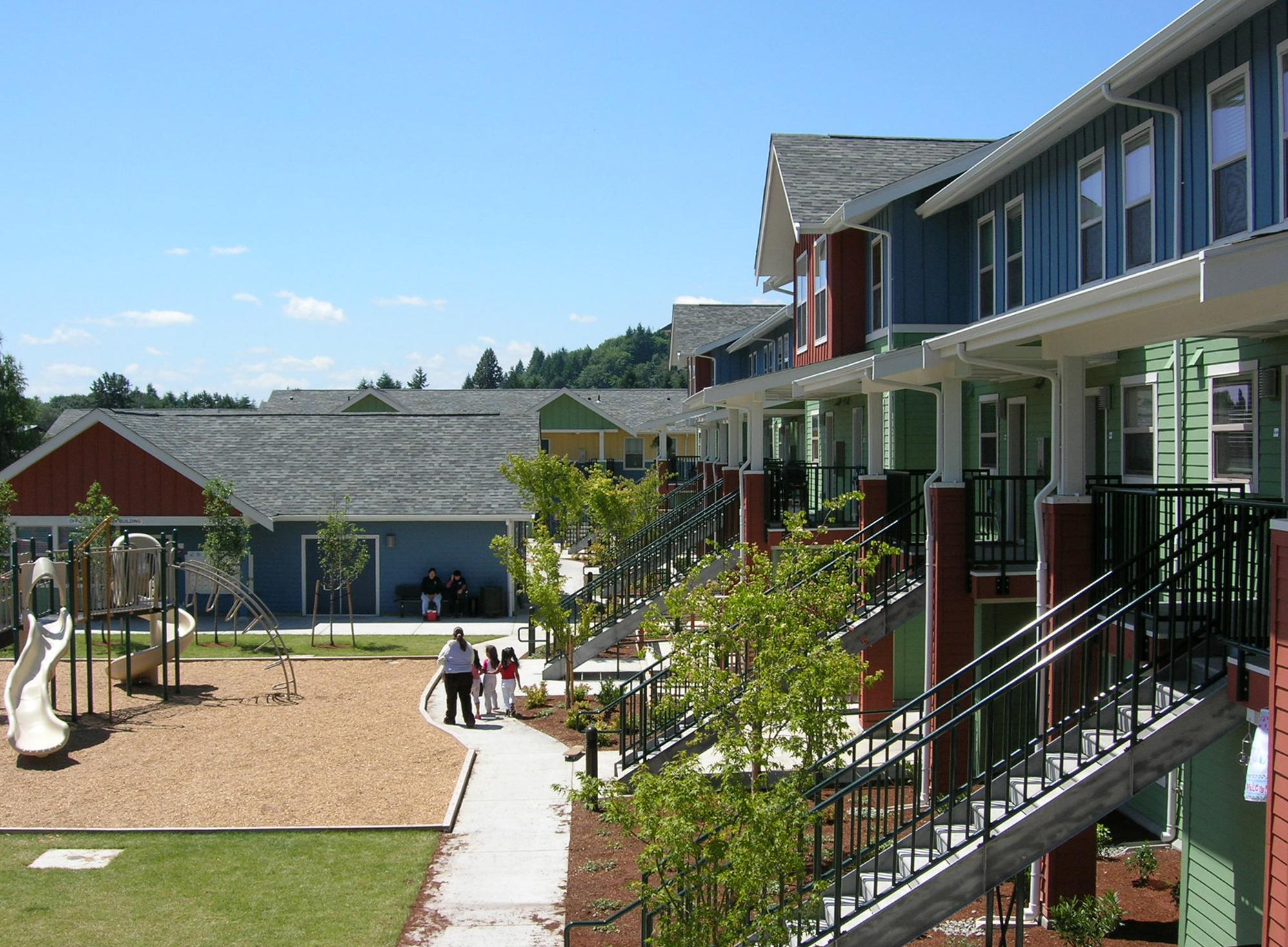 - Client: Catholic Housing Services of Western WashingtonLocation: Centralia, WashingtonCompletion: 2005Project Size: 46 Units, 48,290 SF