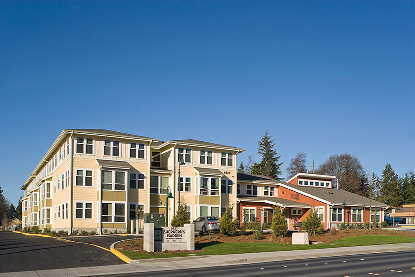 - Client: American Baptist Homes of the WestLocation: Lynwood, WashingtonCompletion: 2010Project Size: 40 Apartments
