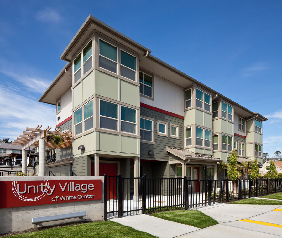 - Client: Capitol Hill Housing, Delridge Neighborhoods Development Association, White Center Community Development AssociationLocation: Seattle, WACompletion: 2011Project Size: 30 Units, Commons, Office, 32,000 SF