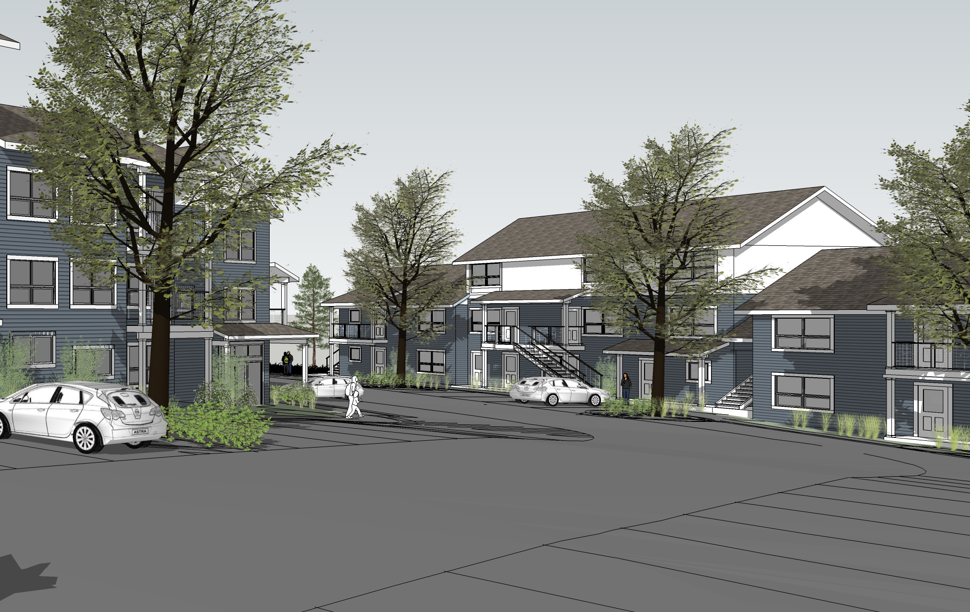 - Client: Sopi Village LLCLocation: Pullman, WAProject Size: 5 Buildings of 56 Units of Affordable Housing, Parking