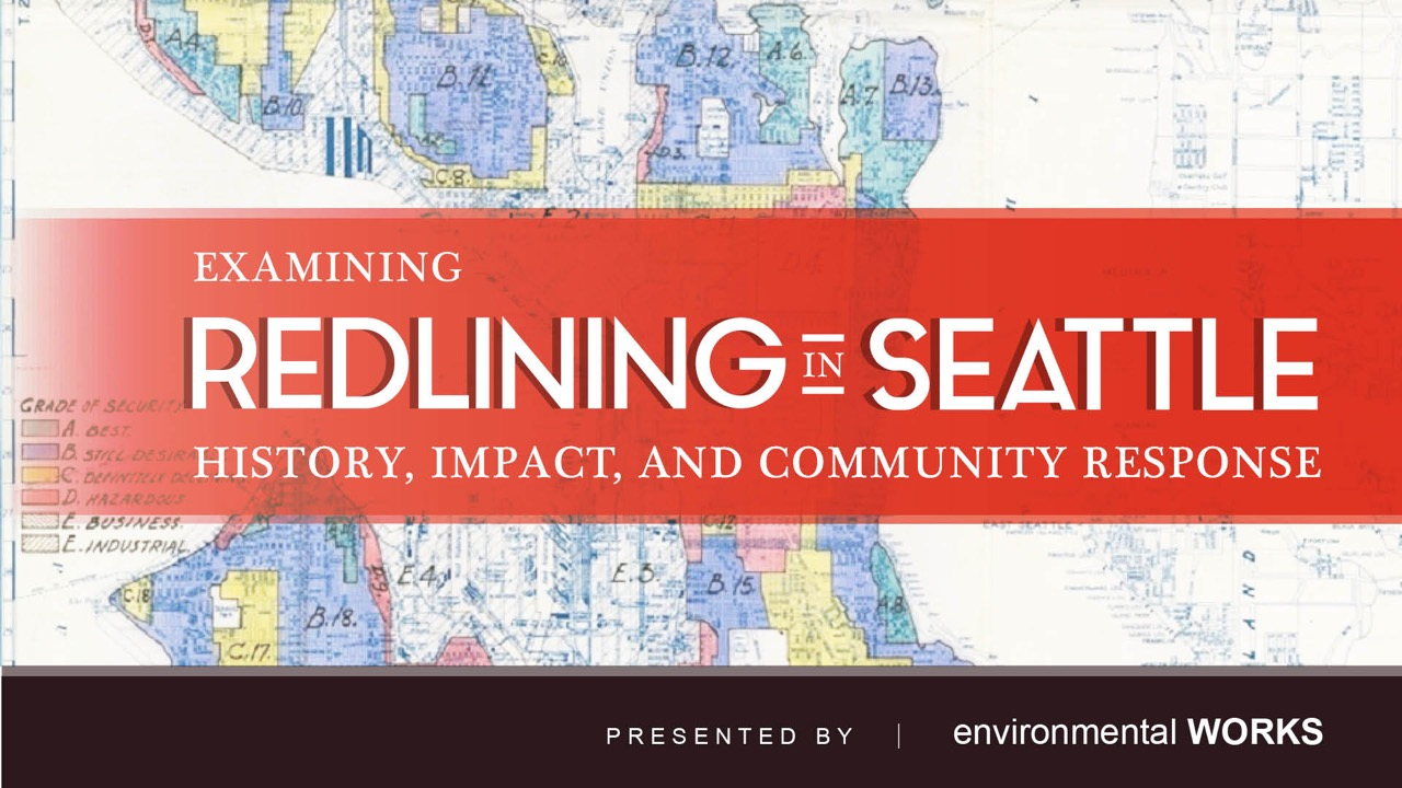 Please join us on October 29, 6-7:30 pm, for a presentation by Habtamu Abdi and EW's Robert Drucker on redlining in Seattle: its history, impact, and a community response. Mr. Abdi is the SPD's East African Community Liaison and a collaborator with the Ethiopian Community in Seattle, which is working to prevent displacement in South Seattle. More information on our  Facebook event page .