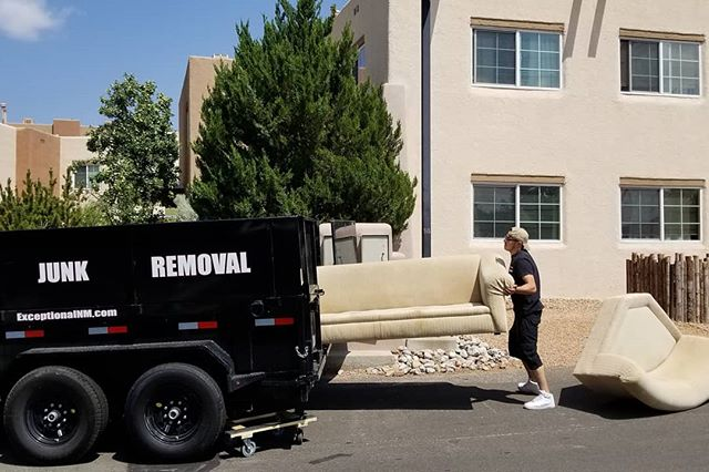 Junk, Junk, Go Away. I need to make some space today.  #junkremoval #santafenewmexico  #samedayservice #couches