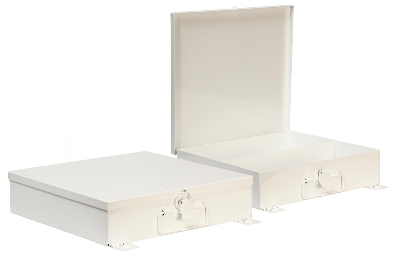 "#70 Unit First Aid Kit   Inside dimensions 10 1/2 x 10 1/4 x 2 1/2"" 22 ga steel / individual weight 3 1/2 lbs Shelf spacing top to bottom—4 7/8"", 5 3/8"" Master carton 12 per / 22 x 17 x 12"" / 44 lbs Gloss white powder coating"