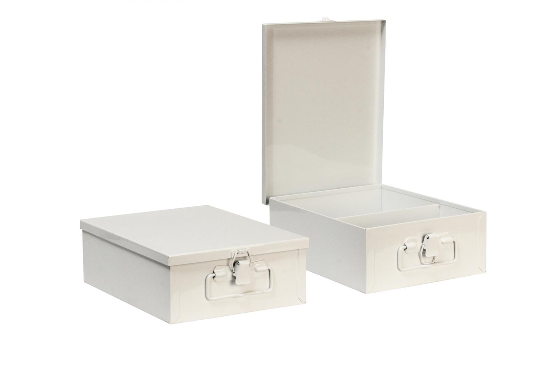 "#116 Small Kit (2 Shelf)   Inside dimensions 9 3/4 x 7 1/2 x 3 5/16"" 22 ga steel / individual weight 3 1/2 lbs Shelf spacing top to bottom—4"", 5 3/4"" Master carton 13 per / 45 lbs Gloss white powder coating"