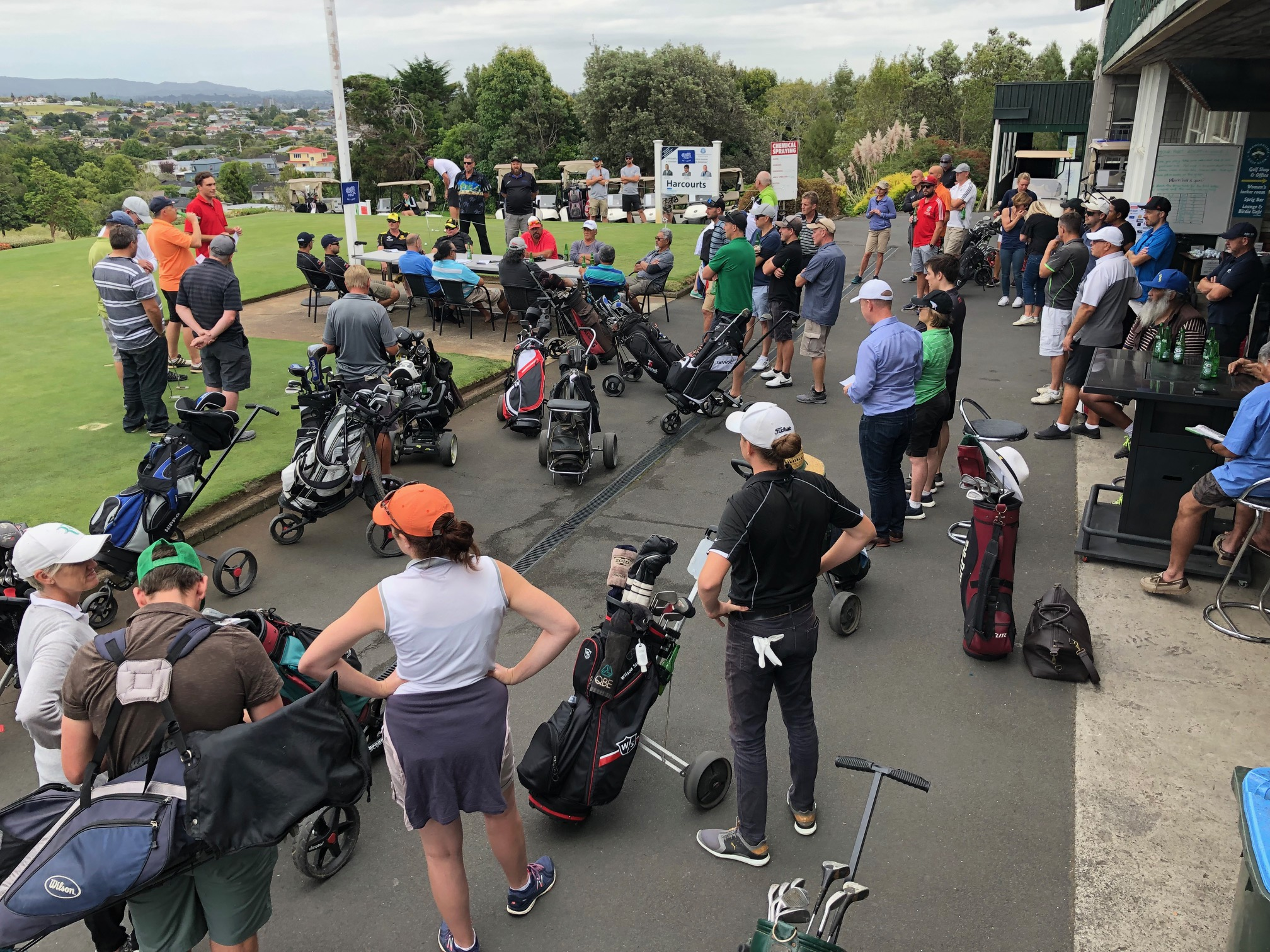 Supporters take to the course for a round to benefit the local community.