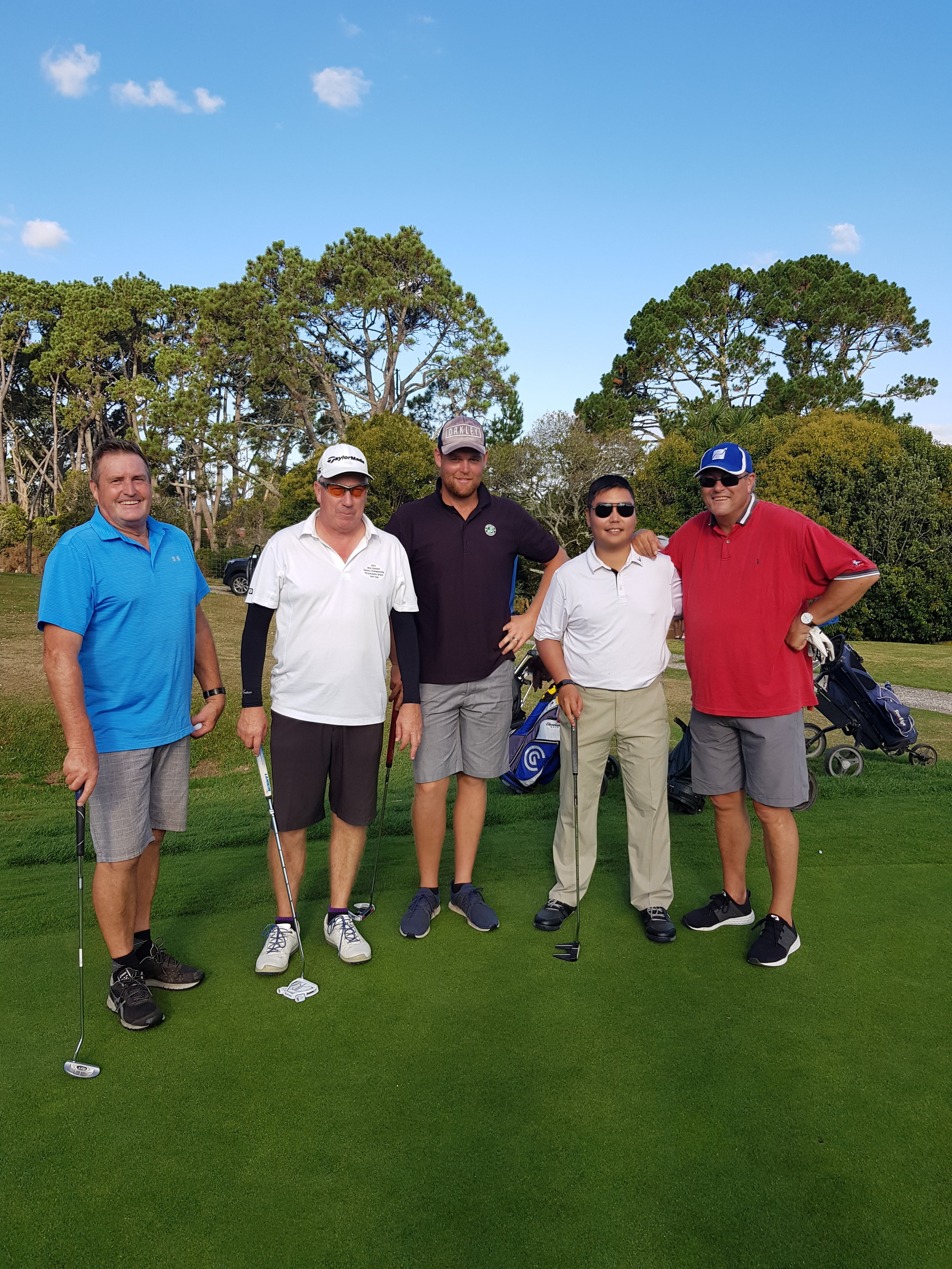 The Spratt Team out on the course at Henderson Rotary Golf Day.