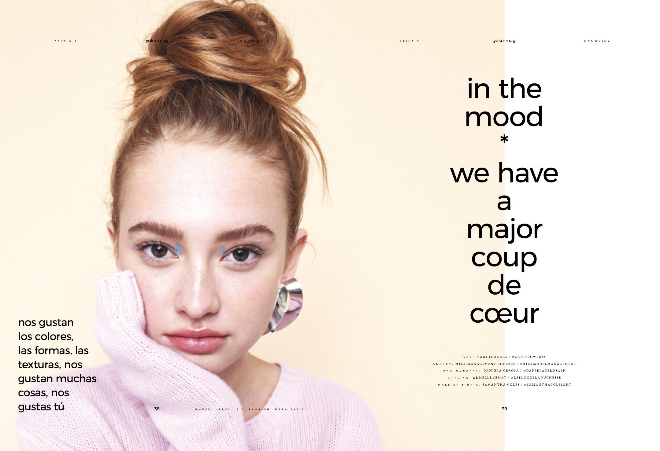Yoko Magazine. Editorial. Photography by Daniela Gerosa