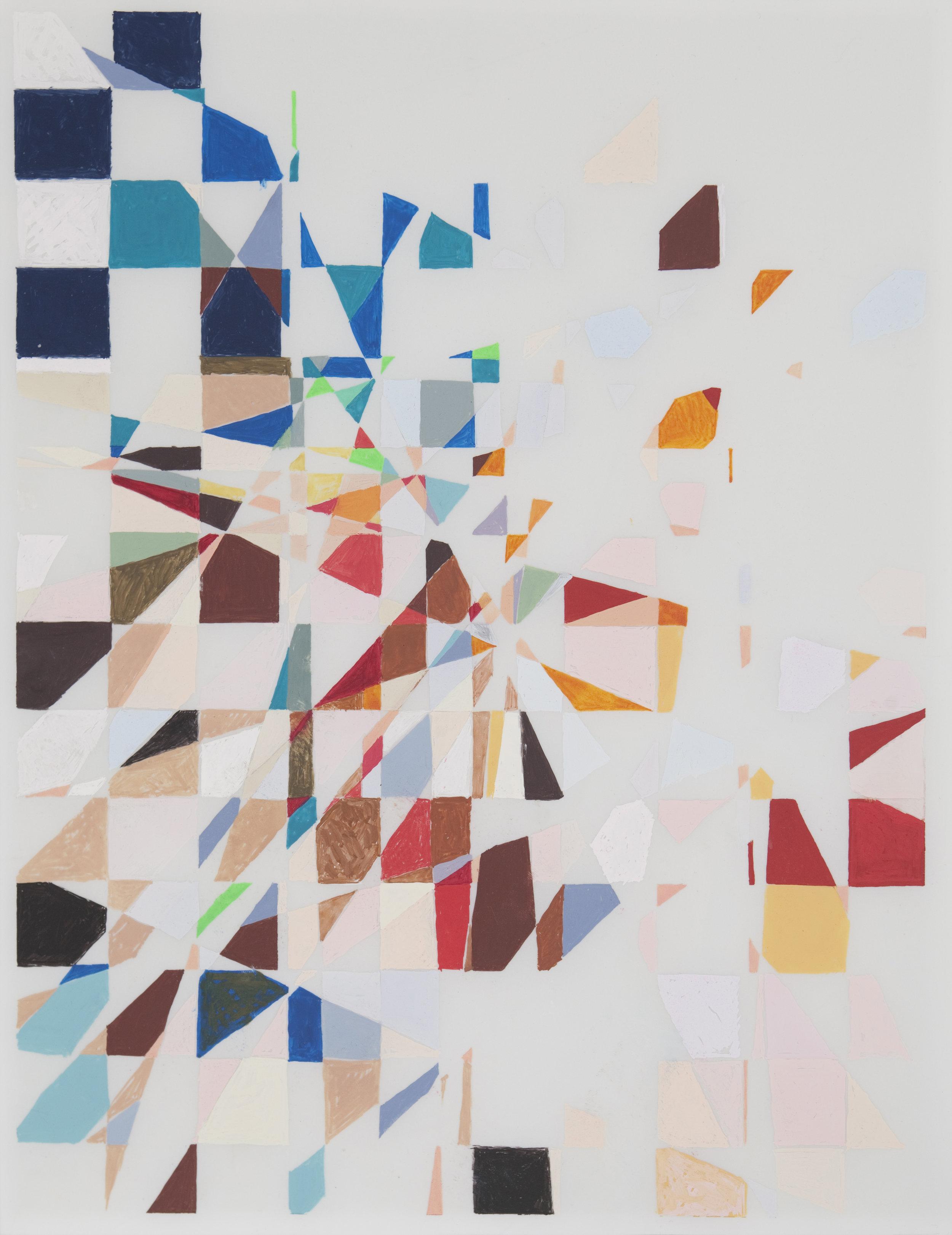 """Wile E. in Roadrunner, 2010 14"""" x 11"""" Gouache on Mylar"""