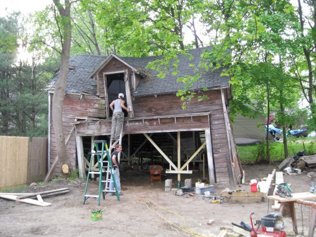 150 year old barn, before.
