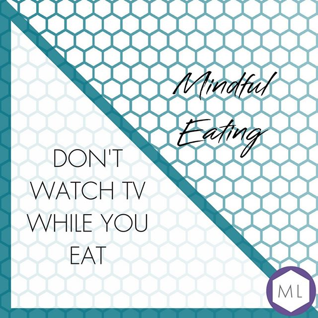 Mindful Eating Tips // Pay attention - you can lose track of how much you've consumed if you're distracted.