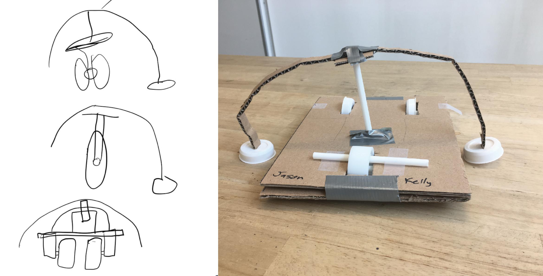 Initial Sketch and Lo-Fi Cardboard Prototype