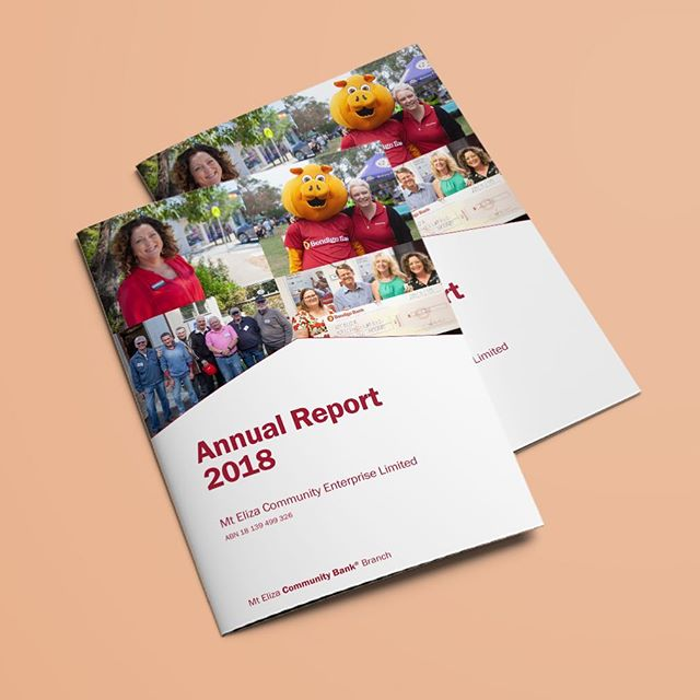 We produced a bunch of annual reports for Bendigo Bank's Community Bank® branches this year.