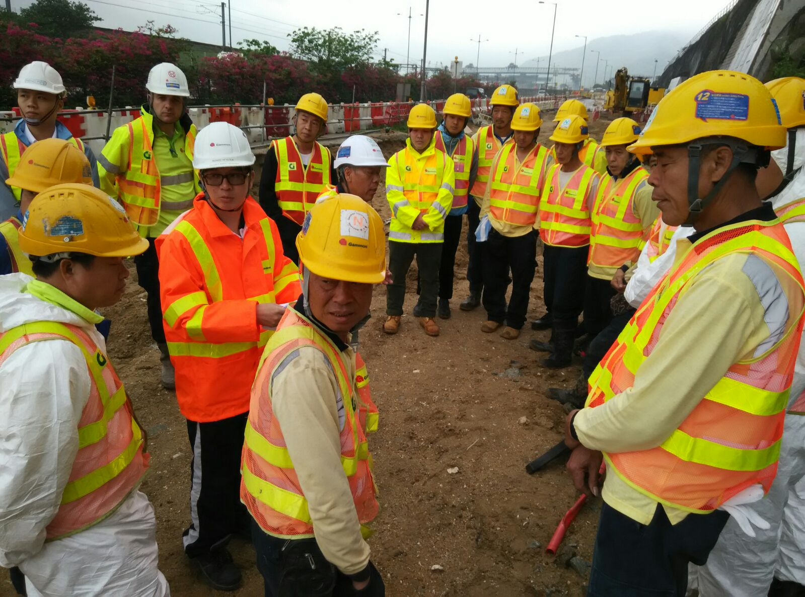 Safety Briefing to our workers