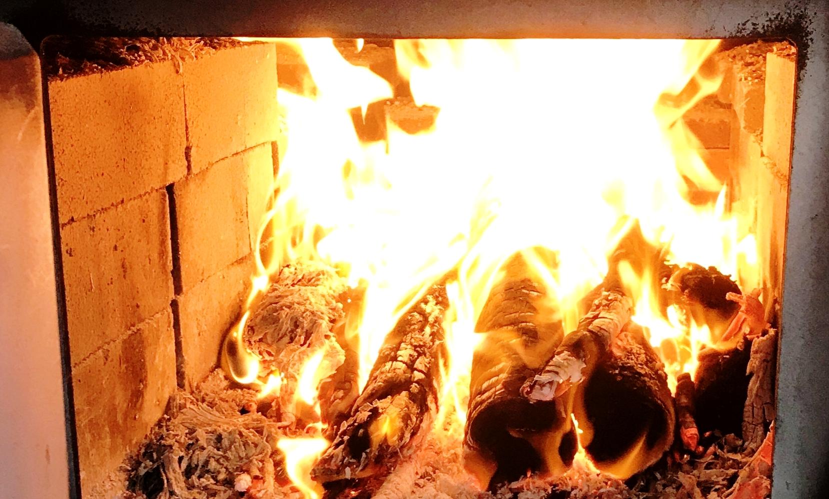 The Market Master firebox blazes!