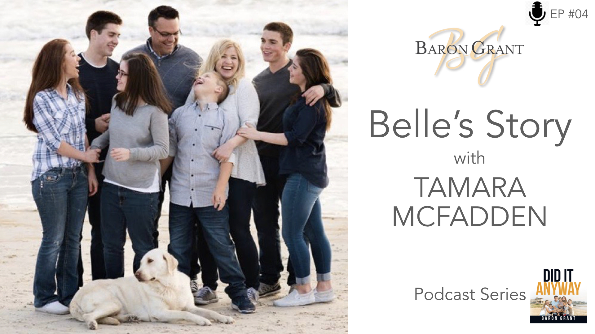 - What an amazing lady Tamara is a mum of 6 beautiful children. Simply being a mum is tough enough, but one of Tamara's children, Belle, is faced with life crippling daily seizures, among other health concerns. Having Belle is one of the greatest joys of Tamara's life, however it comes with its own set of challenges. Listen to her as she shares with us her day to day joys, and the challenges she experiences as she cares for Belle and her other children.