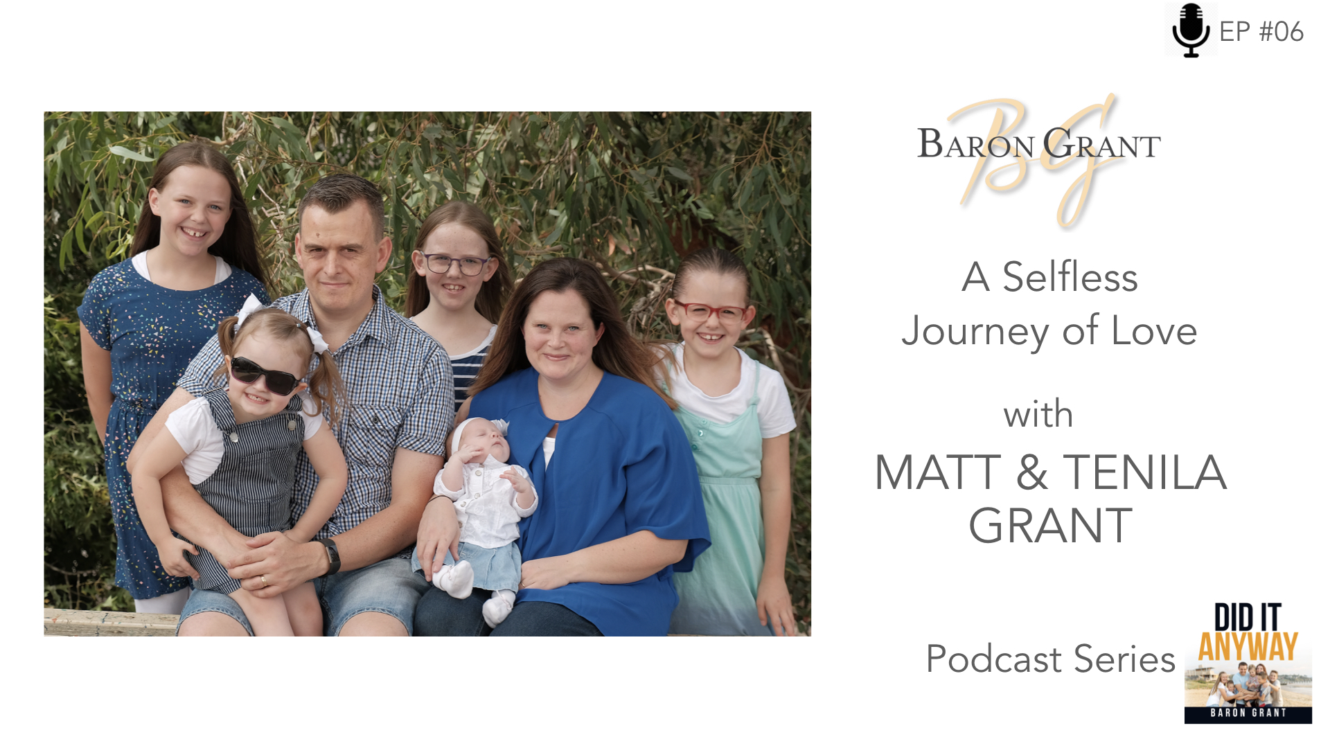 - Come on a journey with Matt & Tenila as they share the daily challenges they face with their daughter Brooklyn who is blind. Even in the thick of their everyday battles they still see the beauty life has to offer as they give selflessly to their children. Tenila also shares a personal heartwarming story that happened before her life with Matt began.