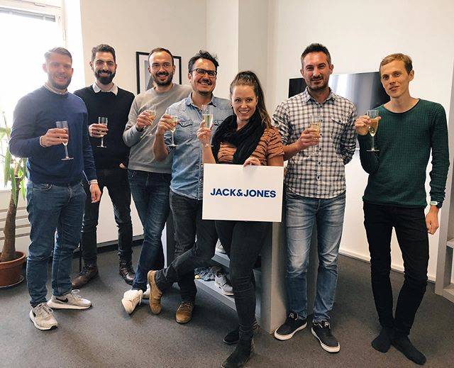 Finishing the week with a celebration for the 100+ store rollout with @jackandjones 💥🎉