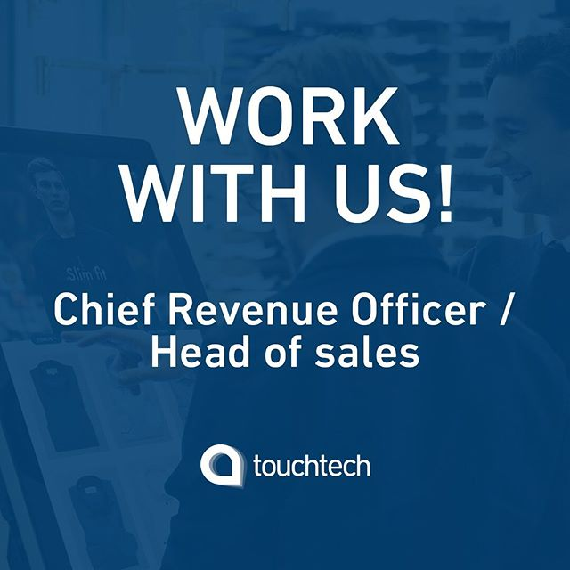 Do you want to work with retail, experiences and people, as well as blurring the boundaries between physical store and e-commerce? Then the role of Chief Revenue Officer / Head of Sales at Touchtech could be your next challenge! Follow the link in our bio to read more about the position.