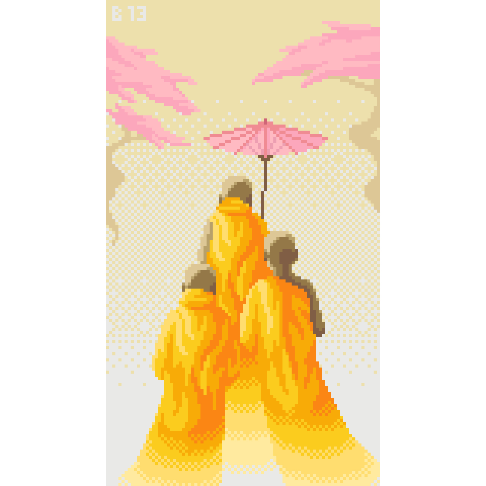 Pixel Art Monks