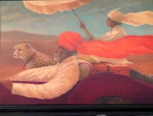 "Maharaja, boy and cheetah 30"" x 40""  £7,450"