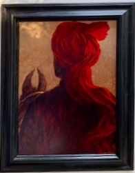 """Horseman with red turban 27"""" x 20""""  £3,950"""