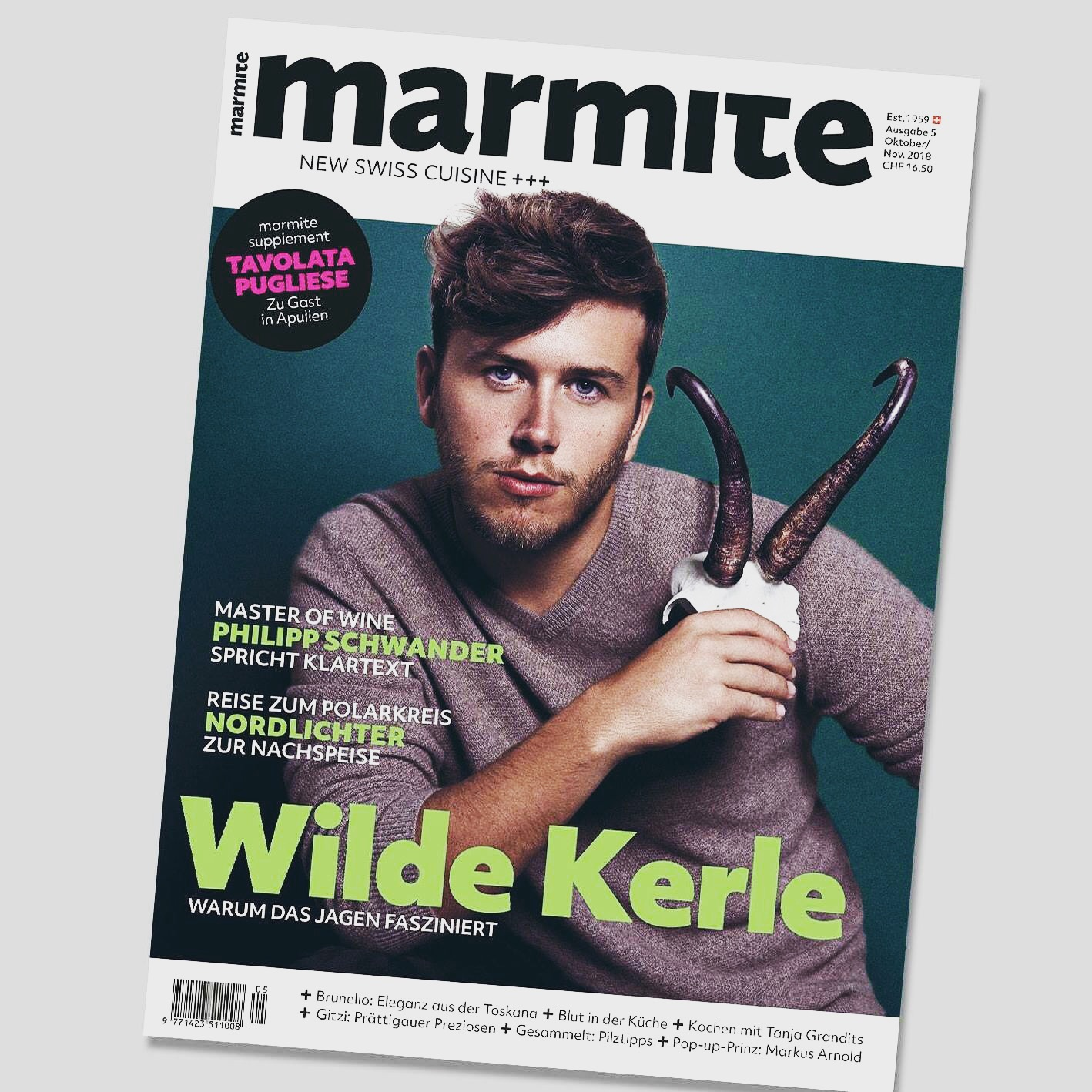 COVER STORY - Für das neue marmite Magazin war ich mit Jäger Roger Zogg unterwegs.