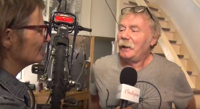 OndiepTV maakt kennis met nieuwe fietsenmaker in de wijk