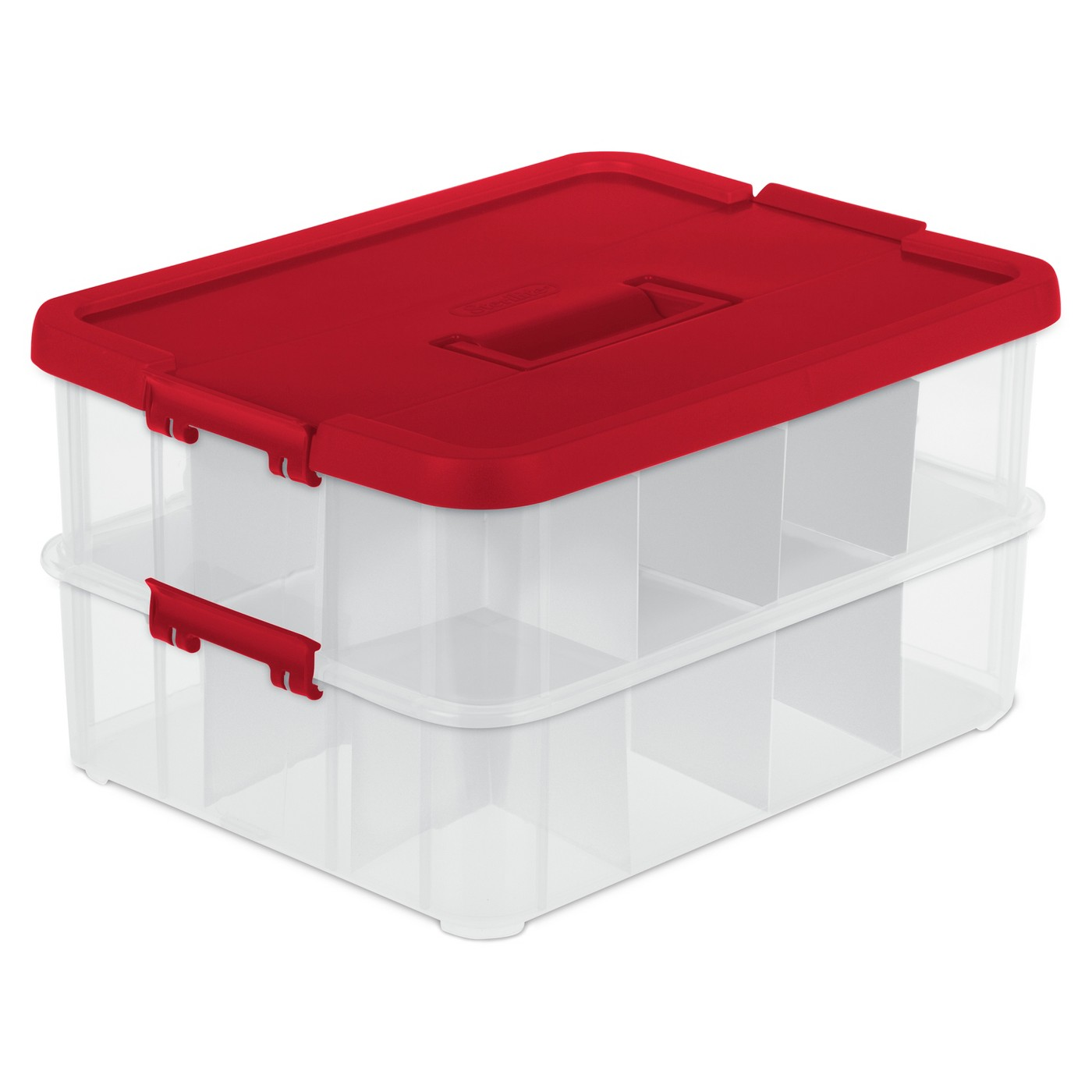 Sterilite Stack & Carry Ornament Box