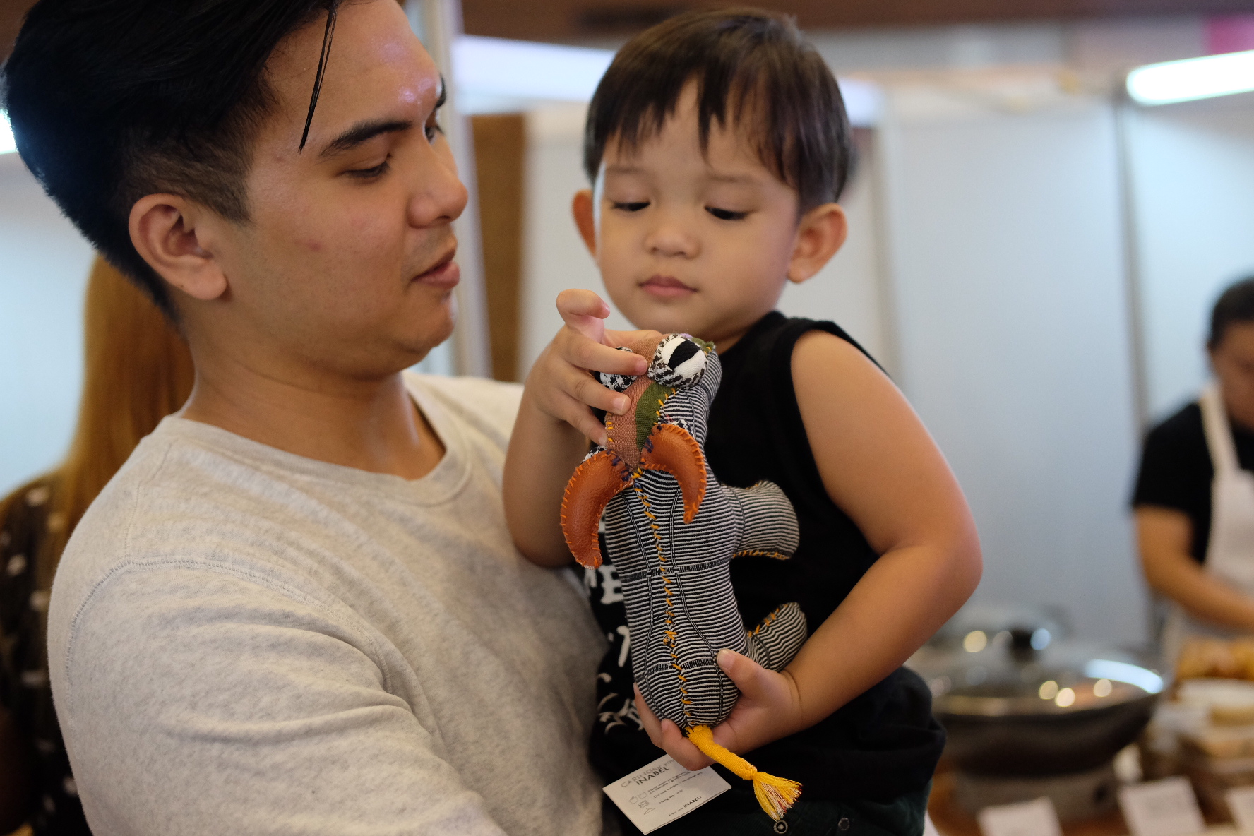 Ynigo's find was thiscarabao plushie! - Doesn't it look so cute?