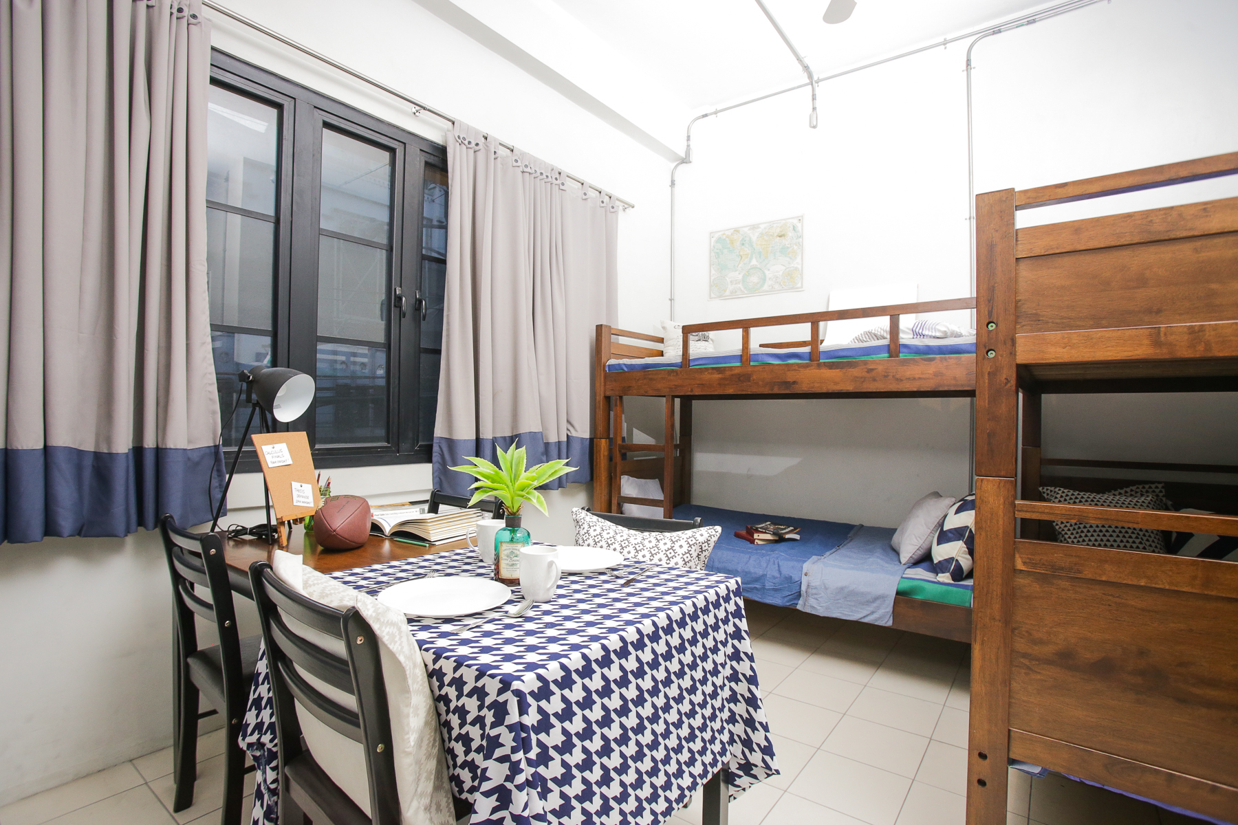 Rooms - Each semi-furnished dormitory room at Youniversity Suites has a bunk bed, kitchen with granite countertop, and private toilet & bath!There are rooms for one, two and for four! All rates range from P 10,000 and below per person depending on what you're getting and how long you'll be staying.