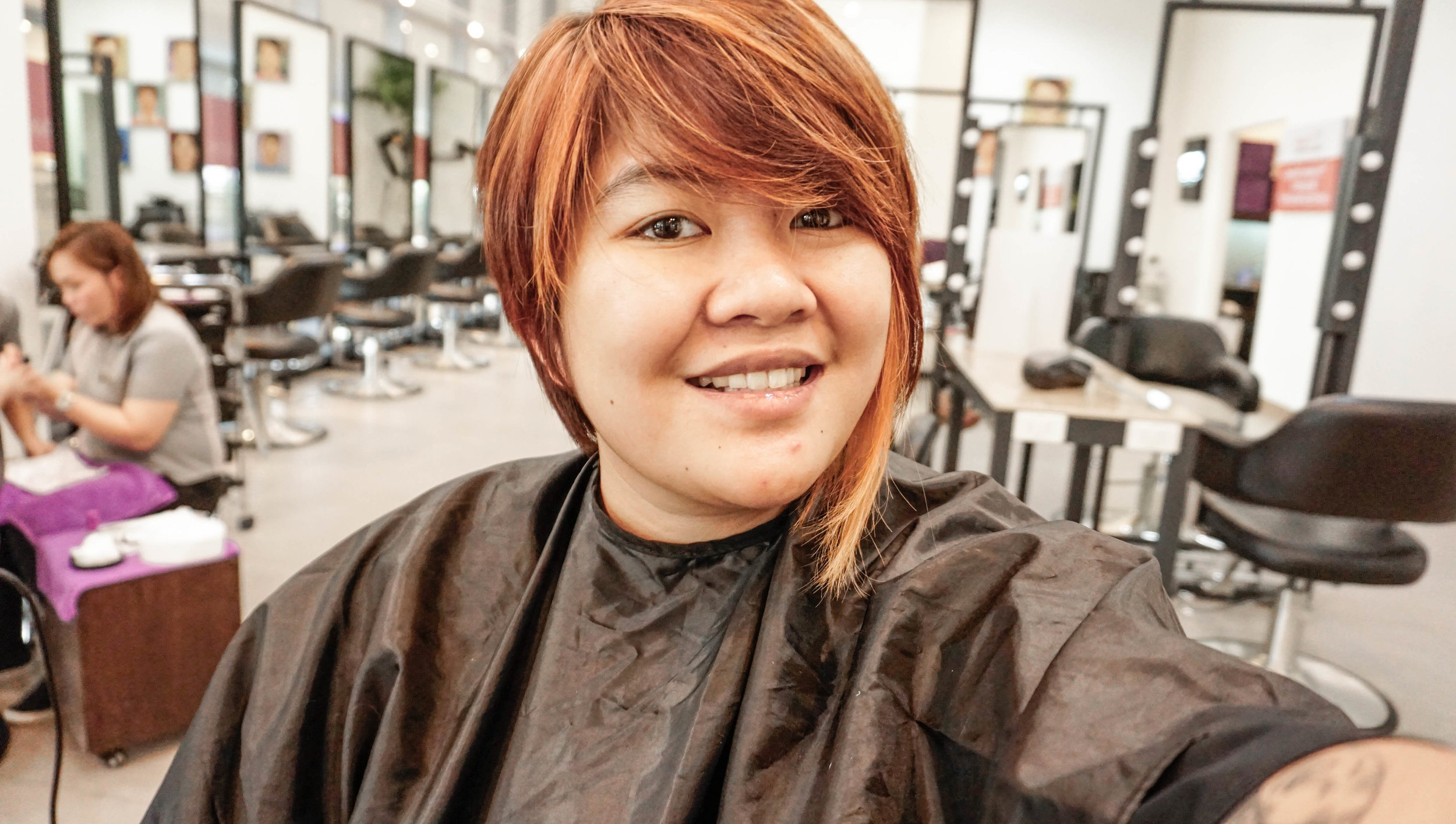 Copper Hair with Highlights