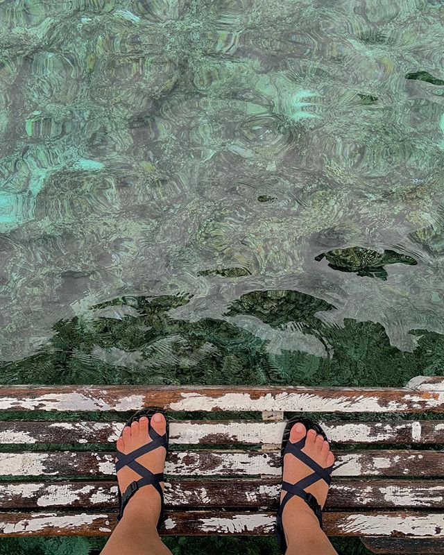 Standing on the edge 🏝 It's quite frightening but I know I'll make it 👌🏼 . On another note, loving these @wandersolesph sandals I got. So sturdy and it has survived and remained reliable throughout all our travels! Hoping I'm as strong as these sandals hihi!