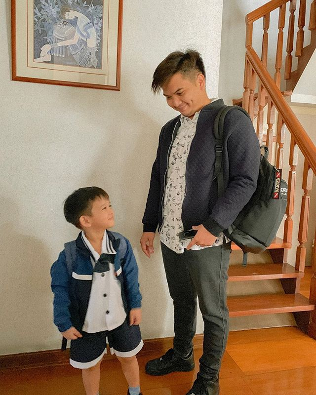 My mornings always involve seeing these two leave 😭 one for work and one for school. But I gotta say how lovely it is to see them bonding in the morning.  @pieyterguingona has always been such a present father; a present parent more than myself to be honest. I feel blessed to have a partner that is fully hands-on with our child. Imagine he's been changing diapers, feeding him, giving him baths since Day 1 - and now, hatid naman sa school. His shift is until night, but it never became an excuse for him to be involved and to be the father our little boy deserves ✨