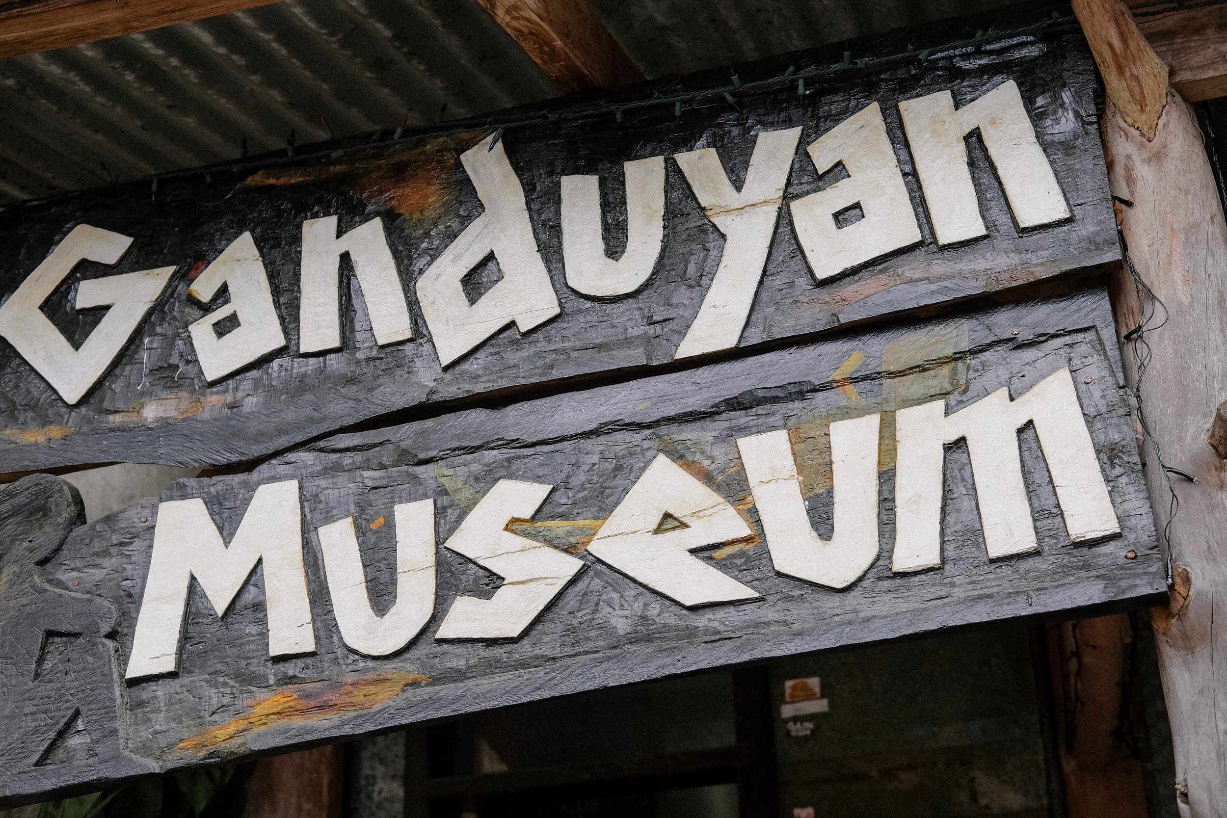 GANDUYAN MUSEUM - This small museum is packed with an anthropologist's dream of sculptures, jewellery and other Kankanay artefacts.Be sure to chat to the owner, the son of the late founder Christina Aben, who is a font of information about local culture and history. Ganduyan is the traditional Kankanay name for Sagada.We couldn't take photos inside, but it is worth the visit, especially when you want to know more about Sagada and its roots, its history.
