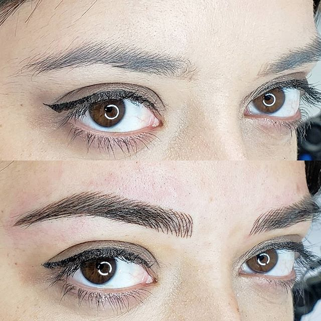 Layered eyebrows done with machine it means less trauma to the skin , less invasive and longer lasting. . For appointment ☎️ : 1(978)457-3403 .... . #beforeandafter  #eyebrow #perfecteyebrows #permanentmakeup #eyebrows #instaeyebrows #beverlyhills #instamakeup #beautiful #miami #eyebrowsdone #tattoo #eyebrowgame #eyebrowgoals #eyesmakeup #permanentmakeup #lookatthatface #eyebrown #eyebrowsonpoint #microblading #microbladingeyebrows #microbladingmiami #microbladingboston #microbladingbrows #blonde #blondehair #microbladingbeverlyhills