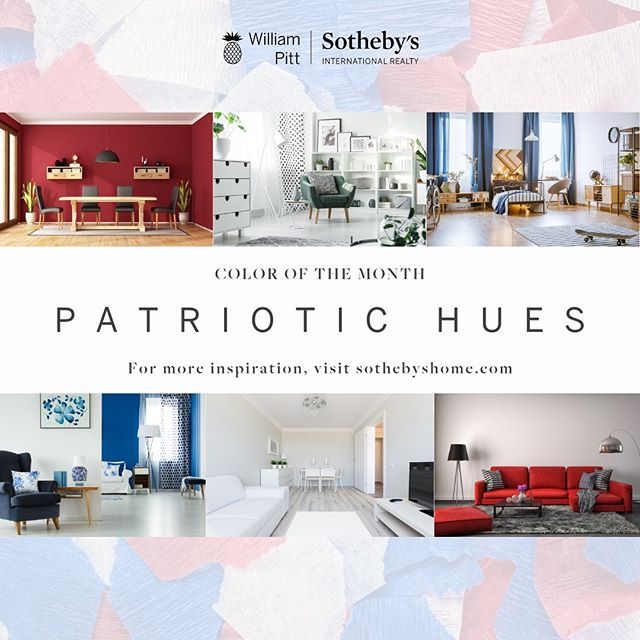 "July kicks off with Independence Day celebrations, so it's only natural that we'd turn our design focus on the most patriotic palettes. Though furniture and accessories in red, white and blue are the perfect fit for summer due to the association of these hues with the 4th of July 🇺🇸, we think this combo can actually work year-round without feeling ""off season."" Need proof? Here's a little patriotic inspiration! . . . #america #design #interiors #furniture #interiordesign #decor #sothebys #onlysothebys #inspiration #goals #diy"