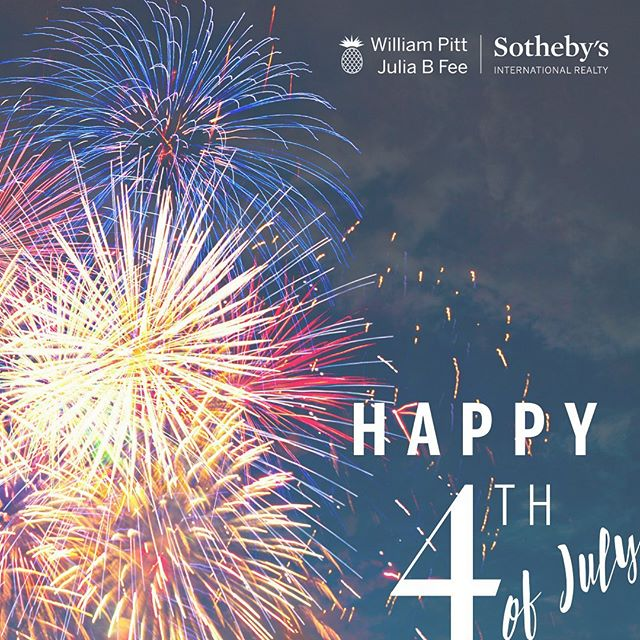 Home of the free, because of the brave. Happy birthday, America! 🇺🇸🇺🇸🇺🇸 To our friends, family and followers: we hope everyone has a fabulous and celebratory 4th! . . . #america #fourthofjuly #sothebys #sothebysrealty #usa #homeofthefree #grateful #proud #williampittsothebys #juliabfeesothebys #fireworks #summer #freedom