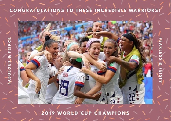 Cheers, ladies. #champions #besfofthebest #worldcup #solidgold #workhardplayhard #sheroes #queens #pitchperfect