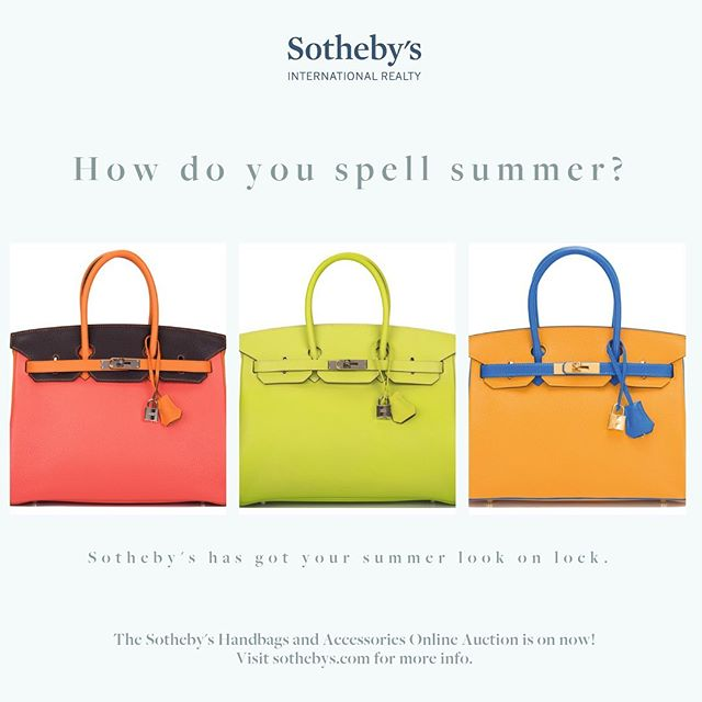 Correct spelling of summer? HERMÈS. #sothebys #auctionhouselife #motivationmonday #luxurylife #fancy