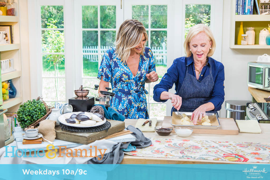 On air at Home & Family for my American Cookie tour. Fall 2018