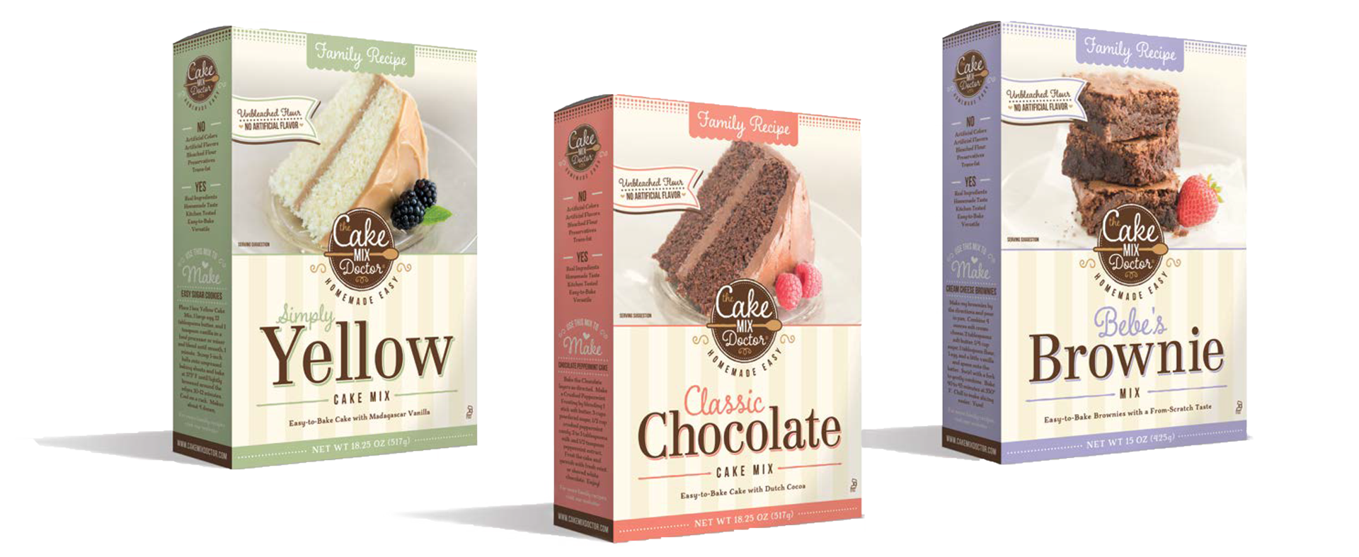 I developed three natural cake mixes for Cake Mix Doctor using family recipes.