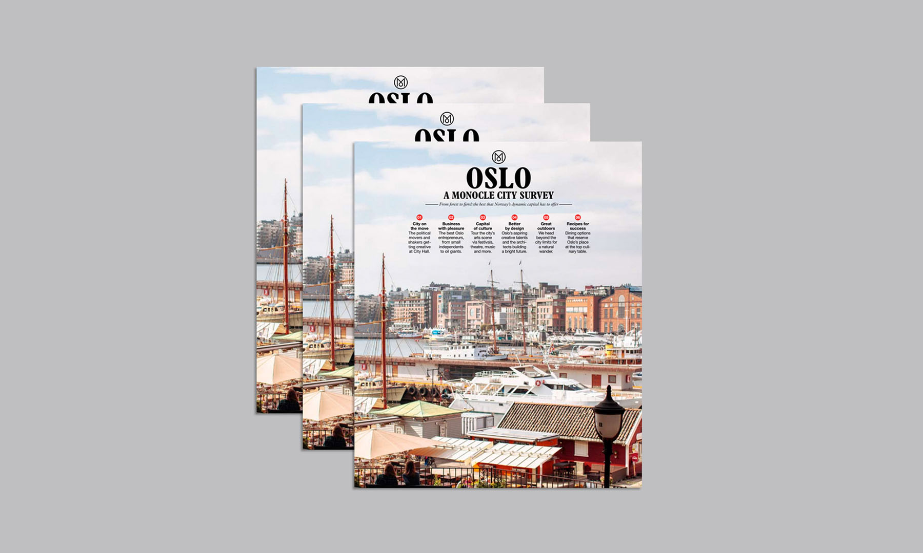 OSLO CITY SURVEY BY MONOCLE   Project management on both sides of the project, ensuring that he content of the city survey was enligned with the coming place brand management strategy for Oslo.  Advisory - Einar Kleppe Holthe  monocle.com