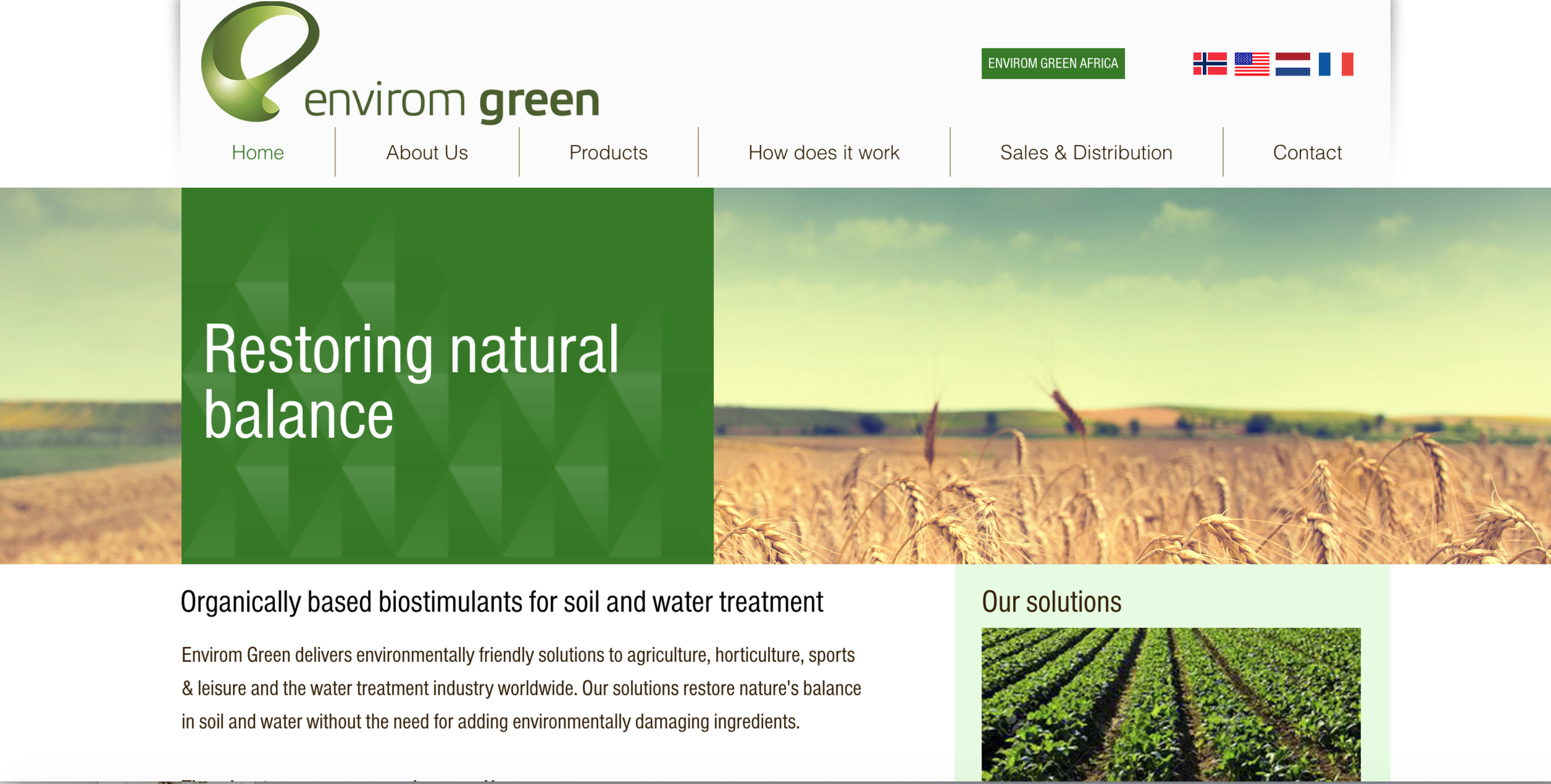 ENVIROM GROUP   Environmentally oriented food and water system focusing on sustainable innovations, making them market viable.  CEO — Einar Kleppe Holthe  bidra.no