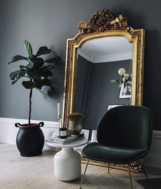 A SUBTLE  gold mirror  is a great touch for that ego.