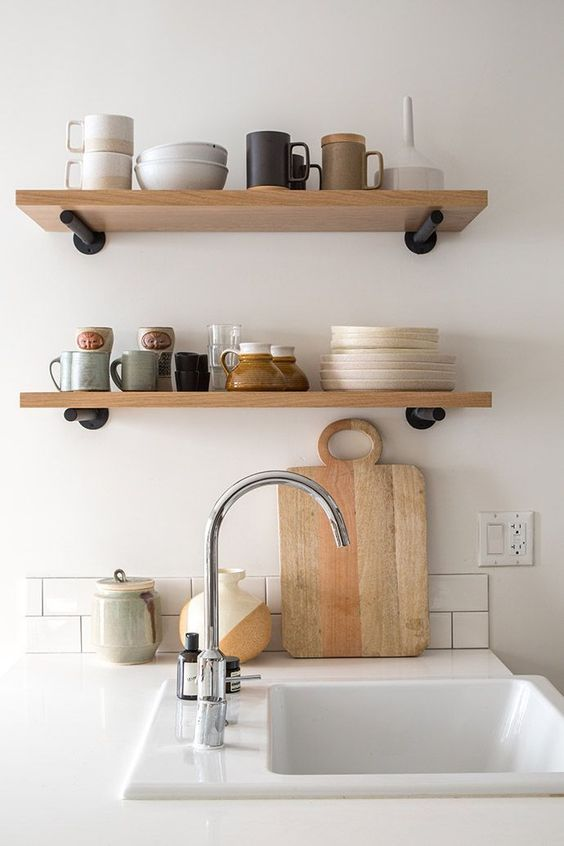 Okay, I'm just a sucker for  open shelving  because it requires the user to maintain a curated, clean collection of dishes.