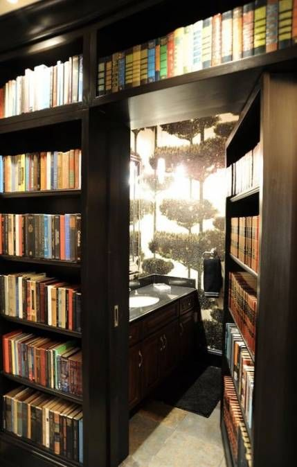 What's more secretive than a bookcase secret door??