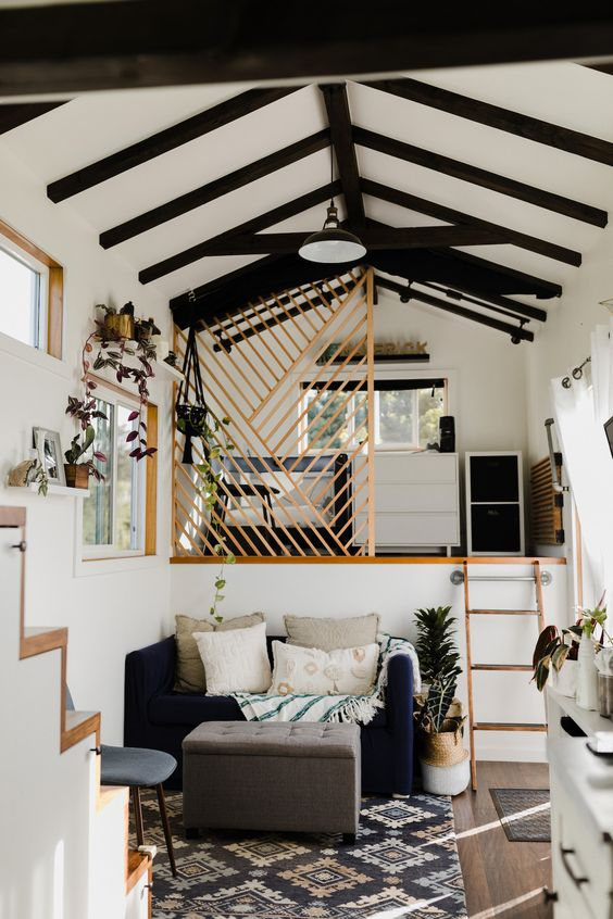 A flexible, yet open and airy  tiny home.