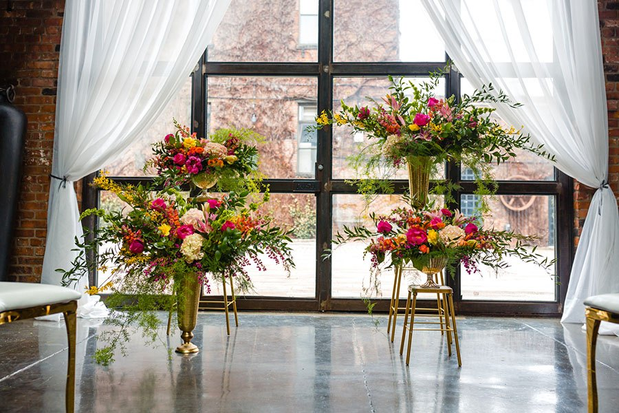 Florals by  Re+Bloom Couture Florals  at  The Foundry , New York City